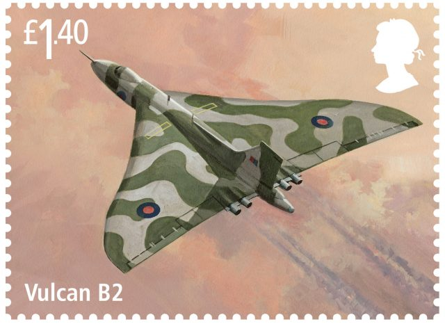 A stamp featuring the Vulcan B2 (Royal Mail/PA)