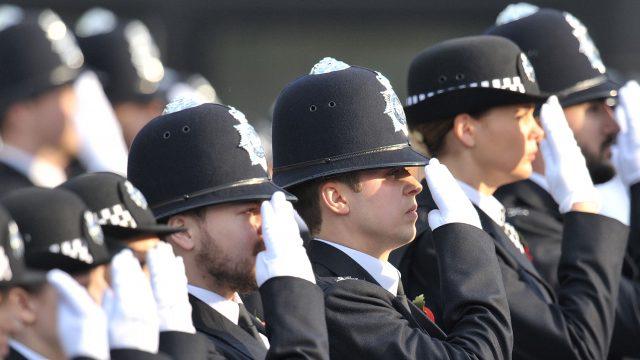 Police in line