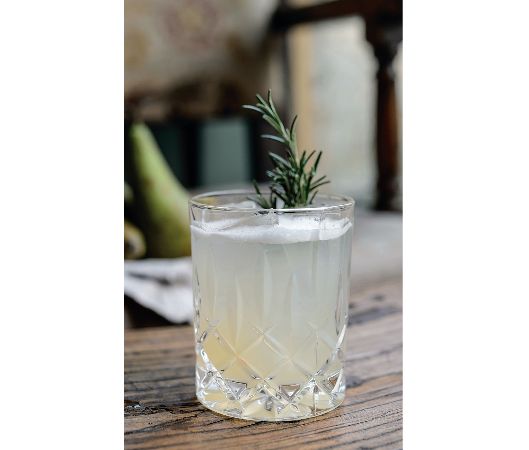 Pear and Rosemary on the Rocks