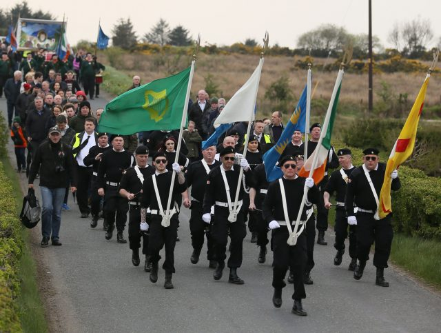 Marchers commemorate the 30th anniversary of the shooting earlier this year, in Co Tyrone (Brian Lawless/PA)