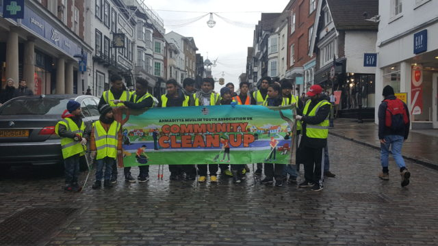 Members of AMYA take part in the annual nationwide street clean-up