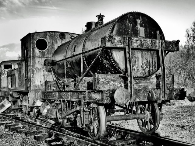 An abandoned train