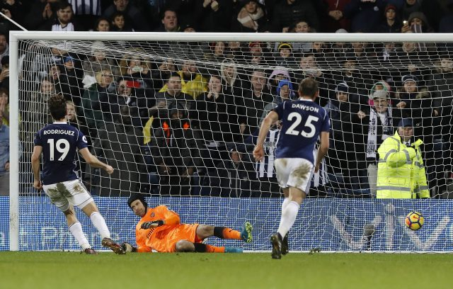 Jay Rodriguez scores from the spot
