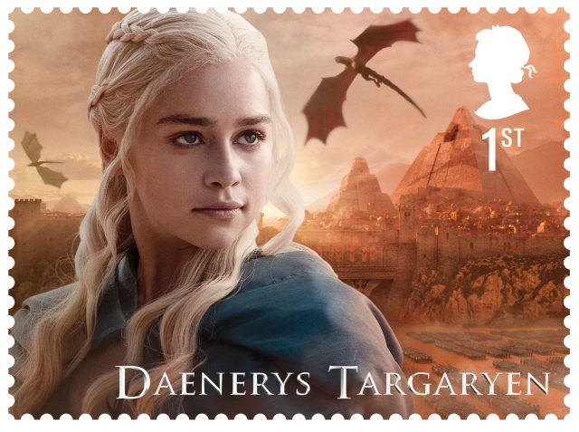 Daenerys Targaryen on a Game Of Thrones stamp (Royal Mail/PA)