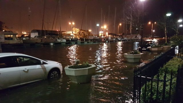 Flooded cars in Galway, Ireland (Emma Hayward/Twitter/PA)