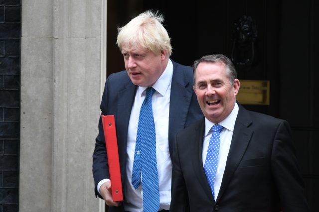 Foreign Secretary Boris Johnson and International Trade Secretary Liam Fox