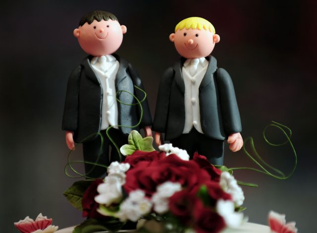 Just four in 10 support same-sex marriage, the study found (Rui Vieira/PA)