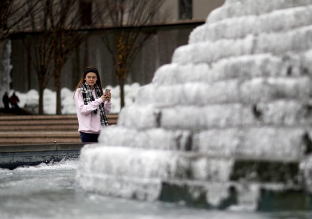 Frozen fountain, Atlanta
