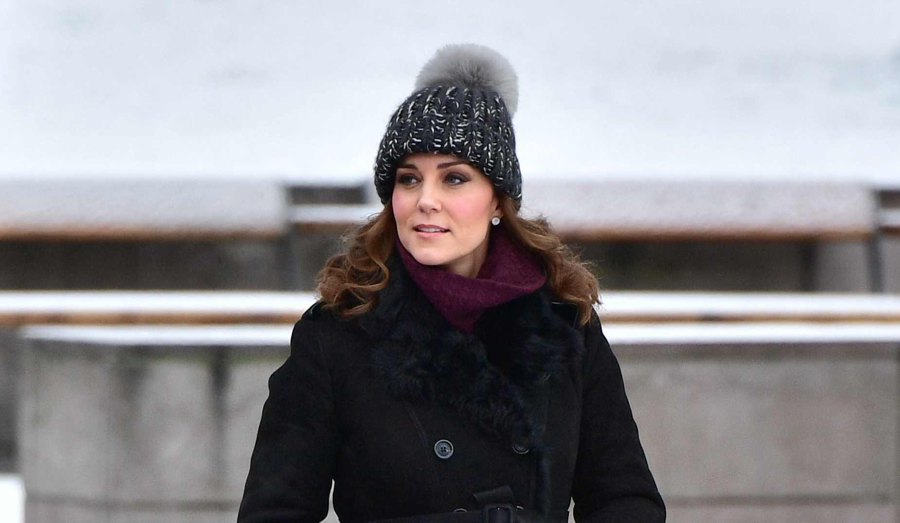 5dfa109e5f04d The Duchess of Cambridge sporting a bobble hat in Stockholm in January  (Dominic Lipinski PA)