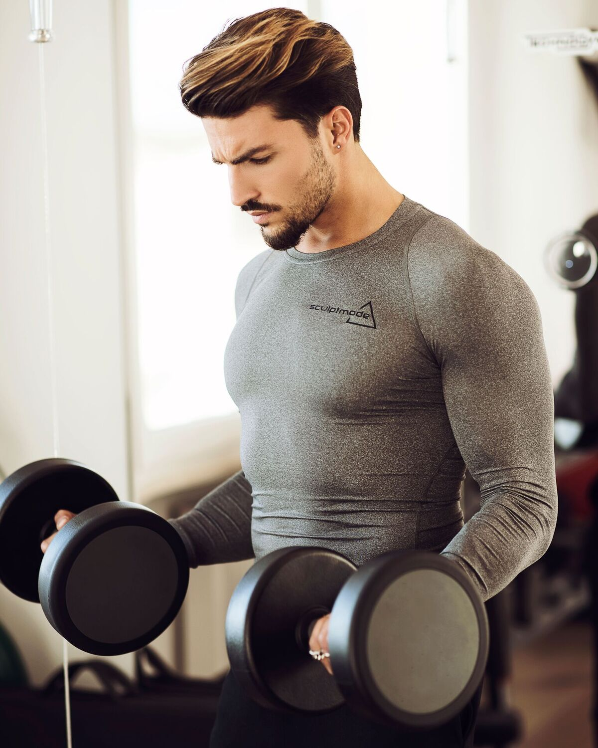 model wearing Sculptmode Compression Top and Joggers