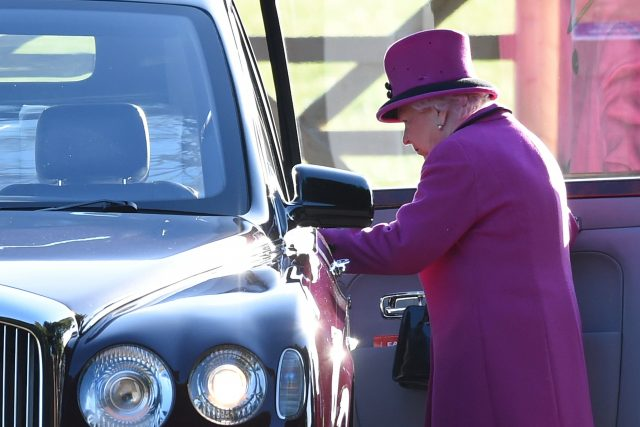 The Queen after attending the service (Joe Giddens/PA)