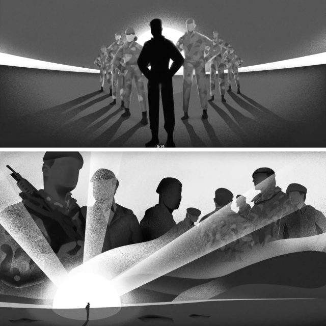 Images from the new Army ad