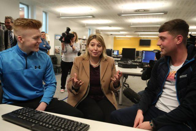 Karen Bradley visits Belfast Metropolitan College