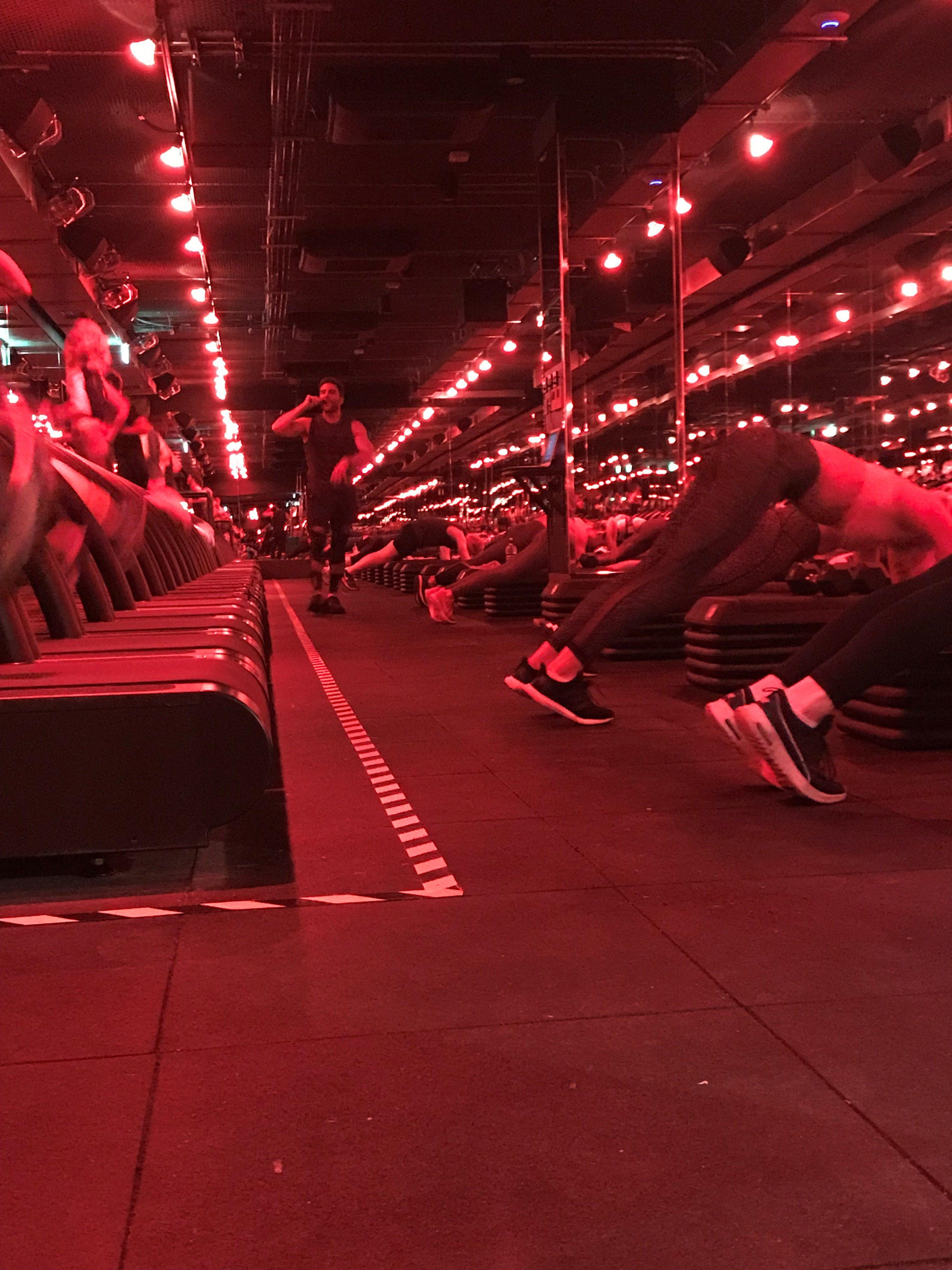 red lit gym (Liz Connor/PA)