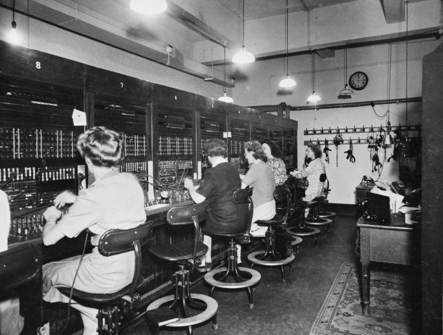 The switchboard operators and typists in Room 60 (Imperial War Museums/PA)