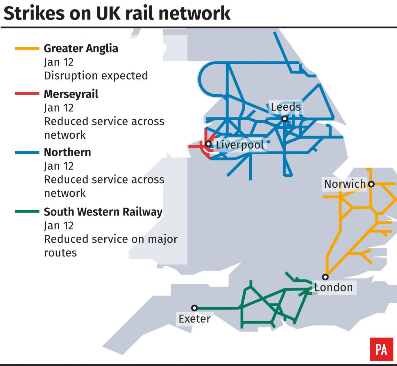 Passengers face further disruption — RAIL STRIKES