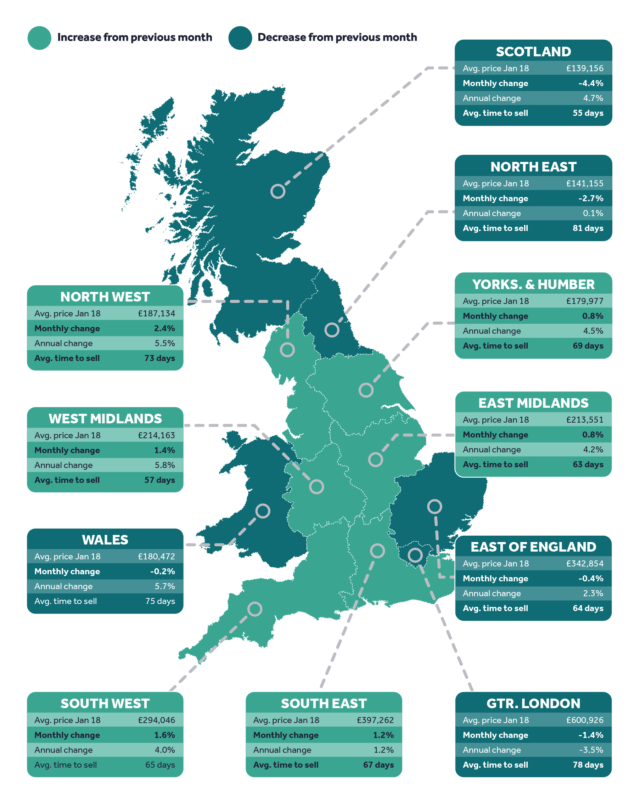 Rightmove house price map