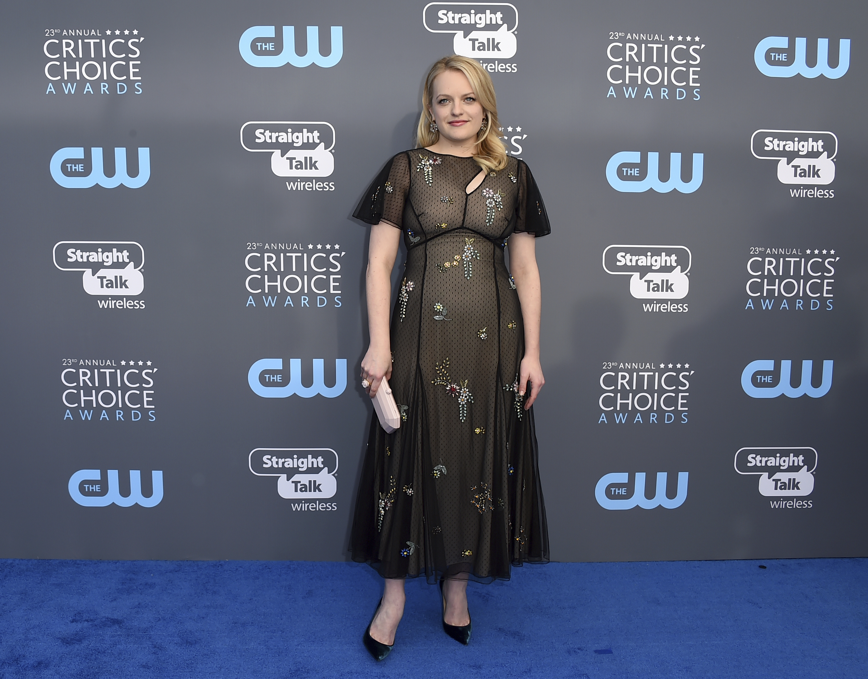 Elisabeth Moss at the ceremony (Jordan Strauss/Invision/AP)