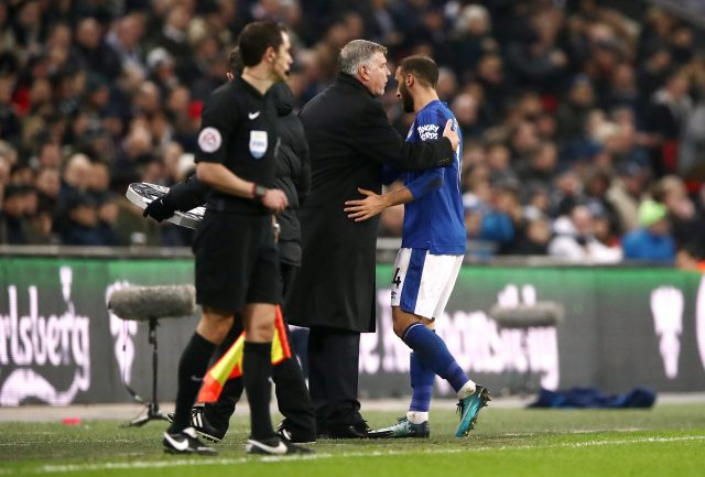 Cenk Tosun is withdrawn on his Everton debut