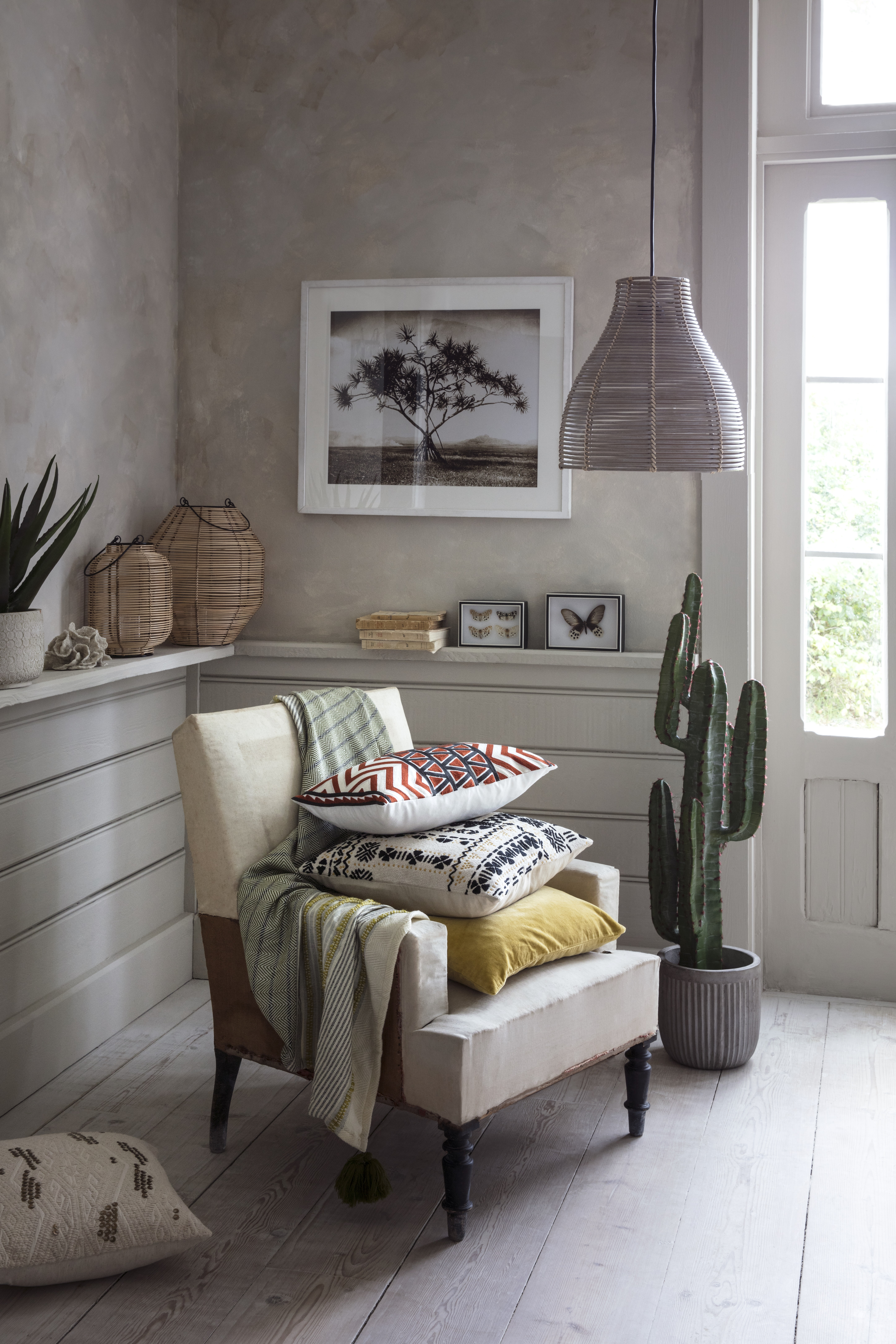 House Of Fraser S New Range Features A Woven Throw Cushions Junipa Baja Planter C Ornament Cane Lanterns Linea Annika Weave Easy Fit