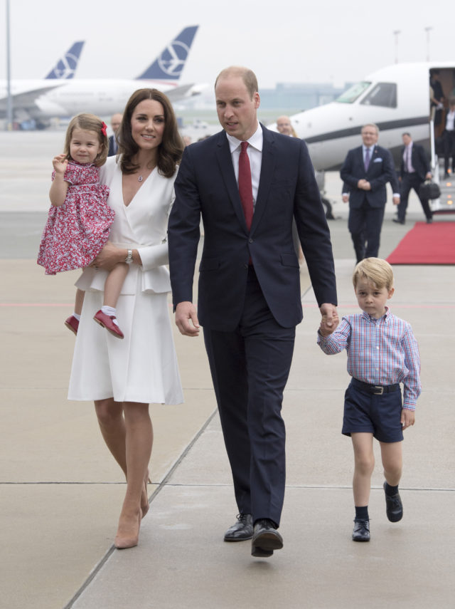 The Cambridge family on their trip to Poland (PA)