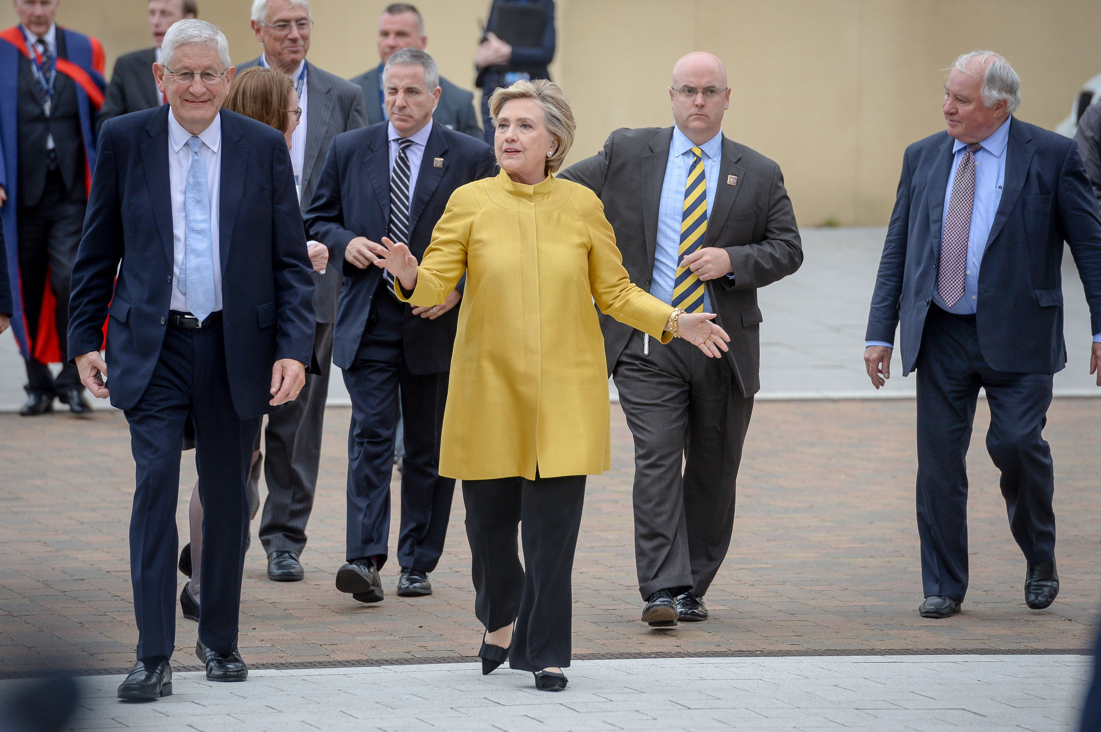 Hillary Clinton walking