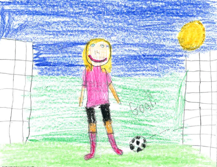 A new survey shows that primary school children are most likely to want to become sportsmen or women. Picture by Cara, 9 (Education and Employers/PA)