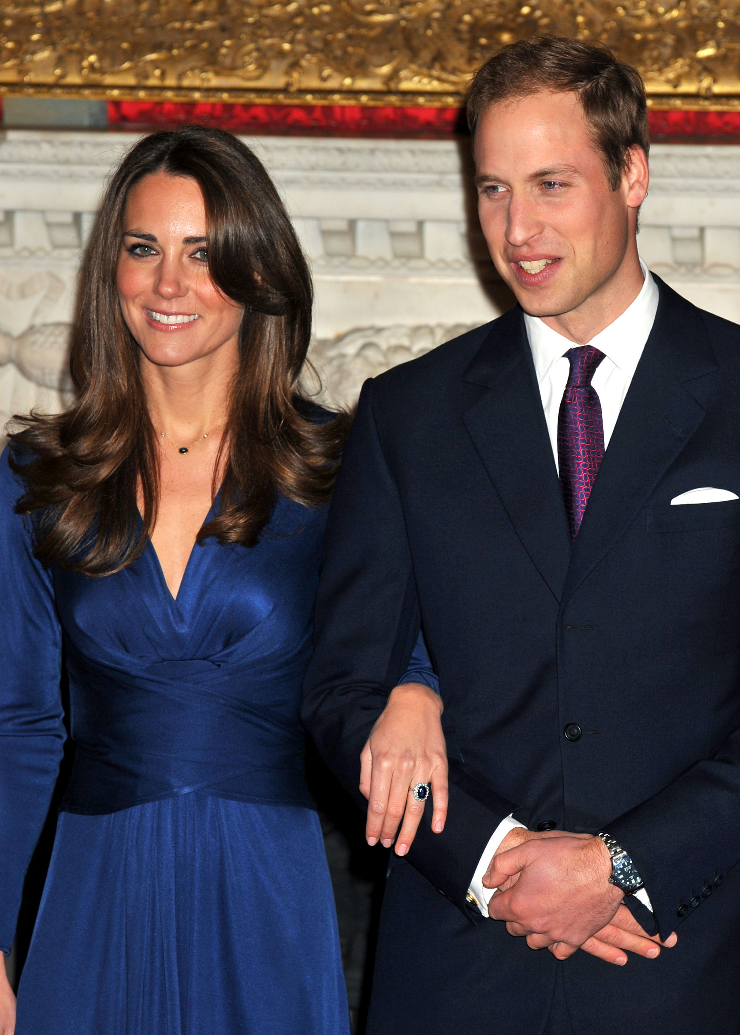 William on the day his engagement with Kate Middleton was announced in 2010 (John Stillwell/PA)