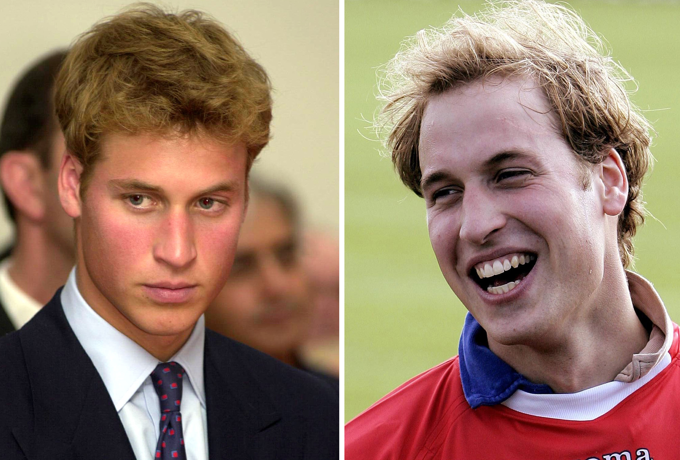 William in 2001 and 2005 (Andrew Parsons/ David Cheskin/PA)