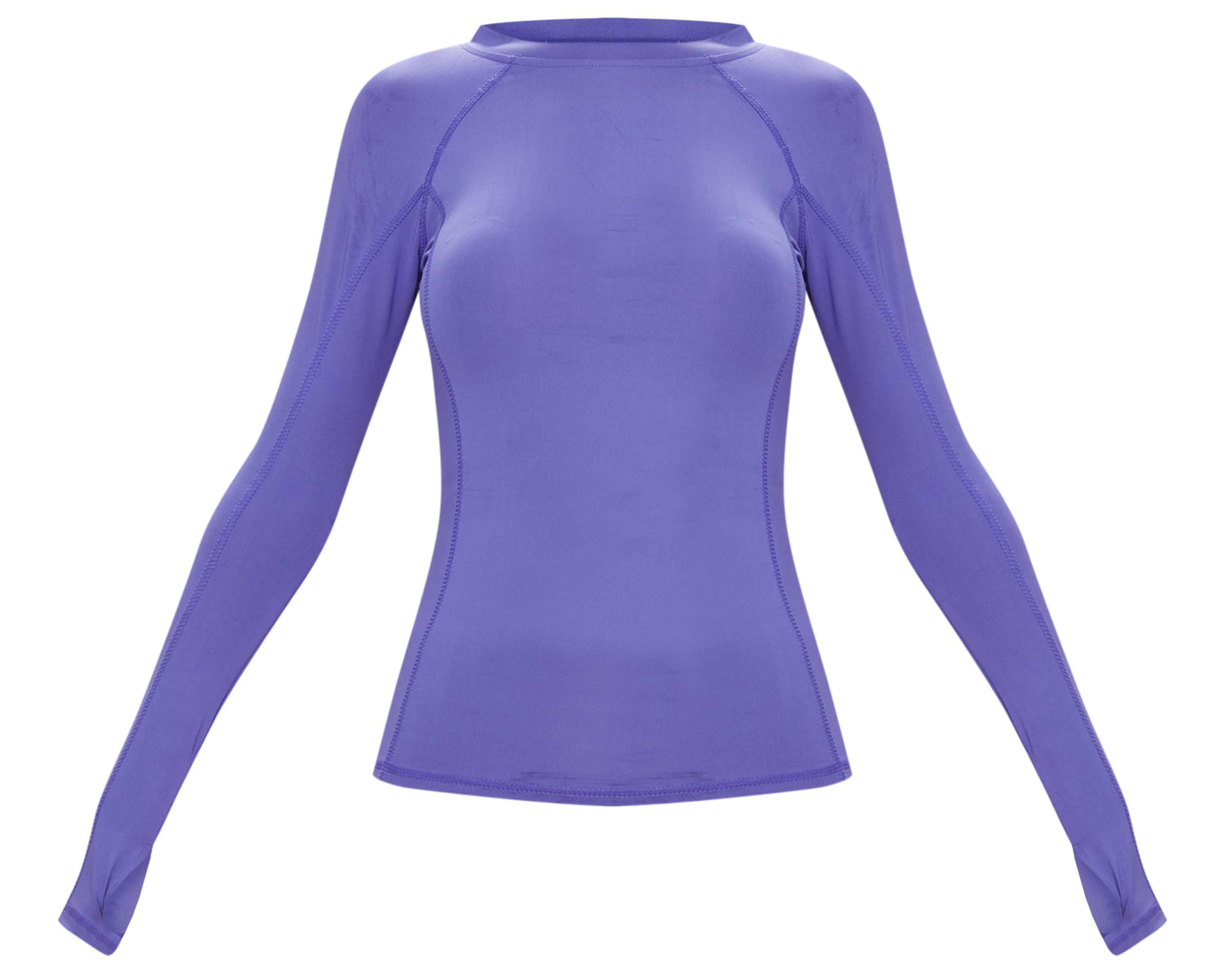 PrettyLittleThing Purple Long Sleeve Gym Top