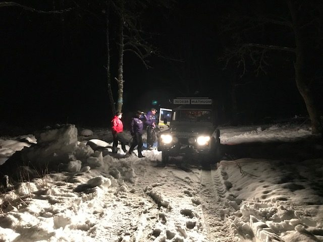 Moffat Mountain Rescue Team during Sunday's rescue (Moffat Mountain Rescue Team/PA)