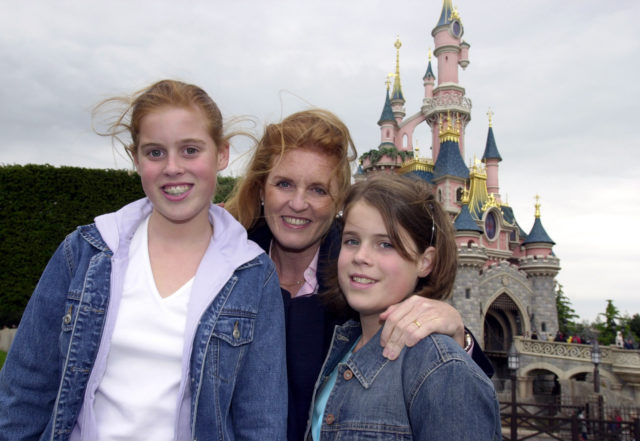 The Duchess of York with Beatrice (left) and Eugenie, who celebrated her 11th birthday at Disneyland in Paris (PA)