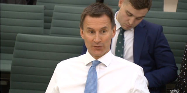 Health Secretary Jeremy Hunt at the Commons Health Committee (parliamentlive.tv)
