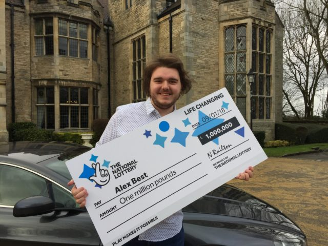 Alex Best collected his cheque at Redworth Hall Hotel (Tom Wilkinson/PA)