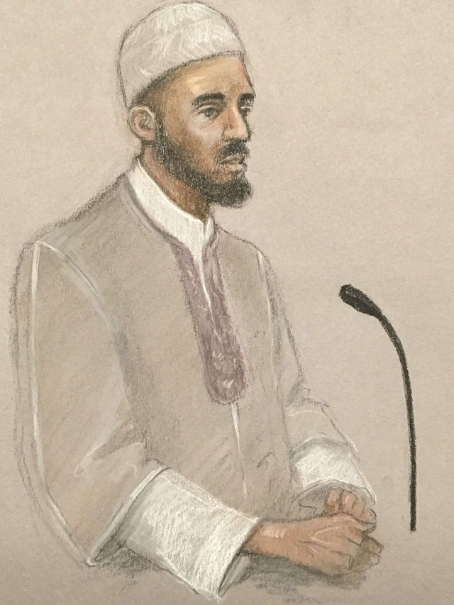 Imam Mohammed Mahmoud in the witness box at Woolwich Crown Court (Court sketch/PA)