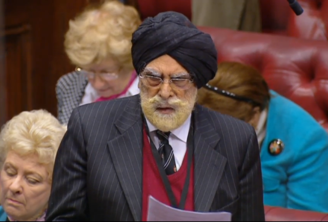 Lord Singh of Wimbledon addresses the House of Lords