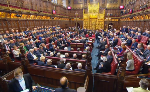 The House of Lords' red benches were packed at the start of the European Union (Withdrawal) Bill second reading debate (PA)