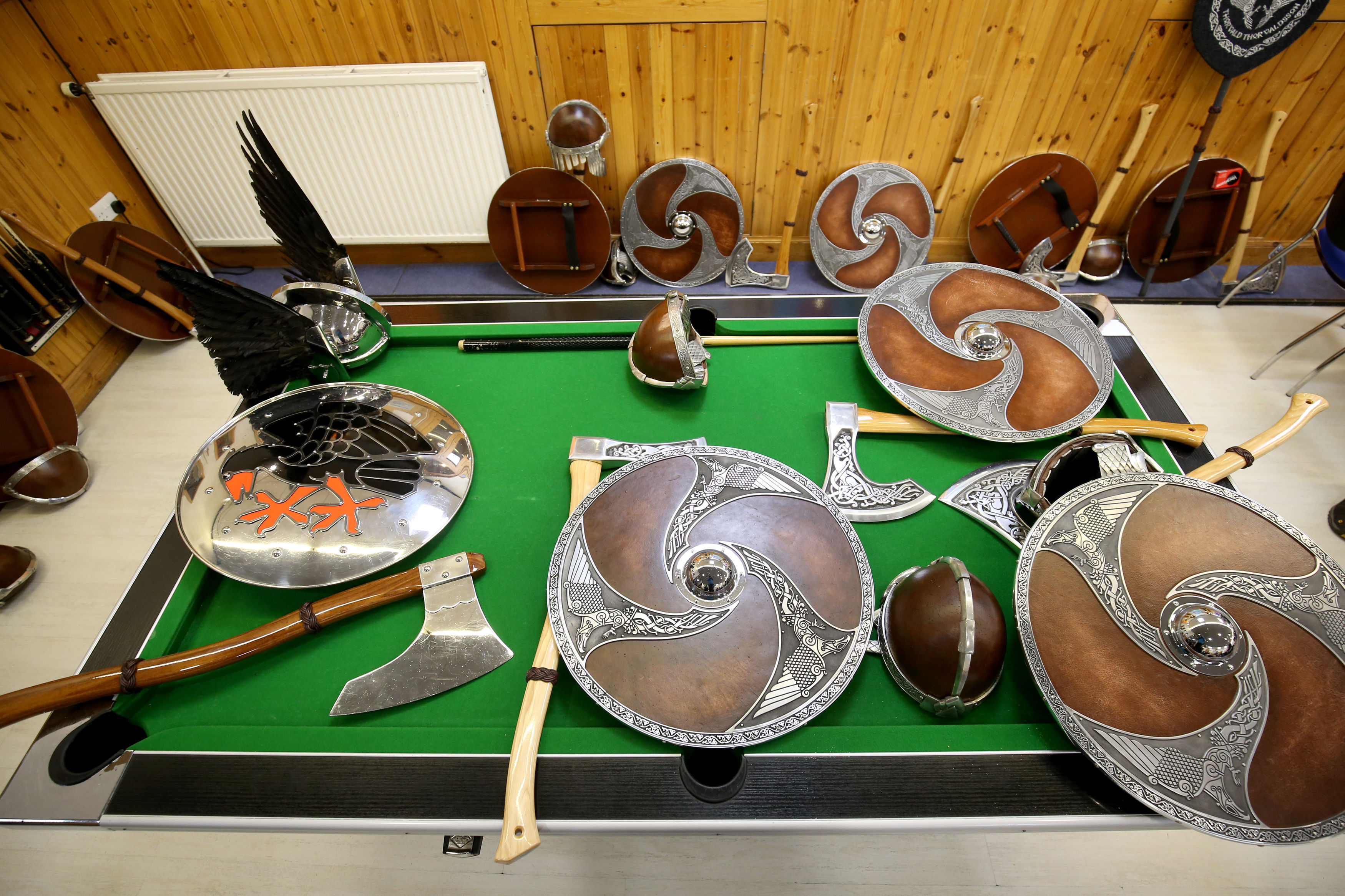 Every self-respecting Viking must learn to accessorise (Jane Barlow/PA)