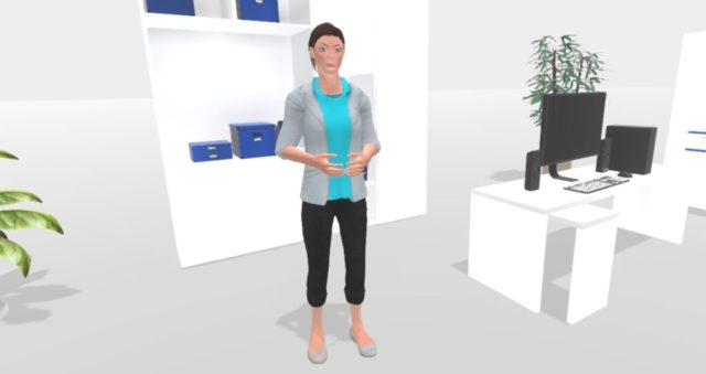 A therapist guides a patient through virtual reality treatment (Oxford VR/PA)