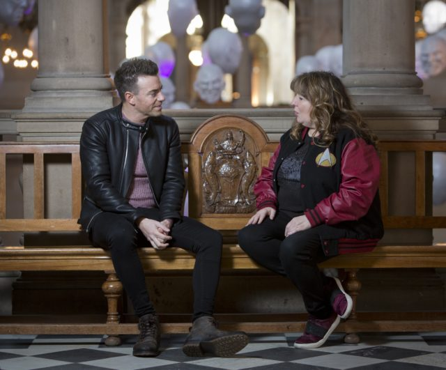 Comedians Des Clarke and Janey Godley visited Kelvingrove Museum in Glasgow to talk about mental health (Marc Turner/PA)