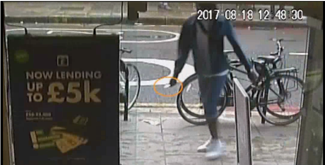 Alando Bolt was seen on CCTV armed with a knife (Metropolitan Police/PA)