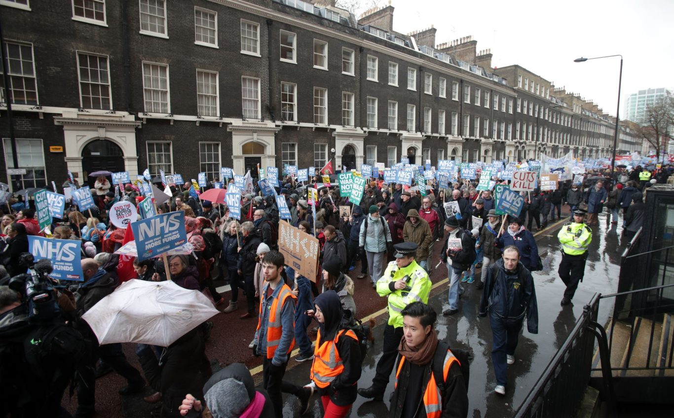 The protest hits Downing Street (Yui Mok/PA)