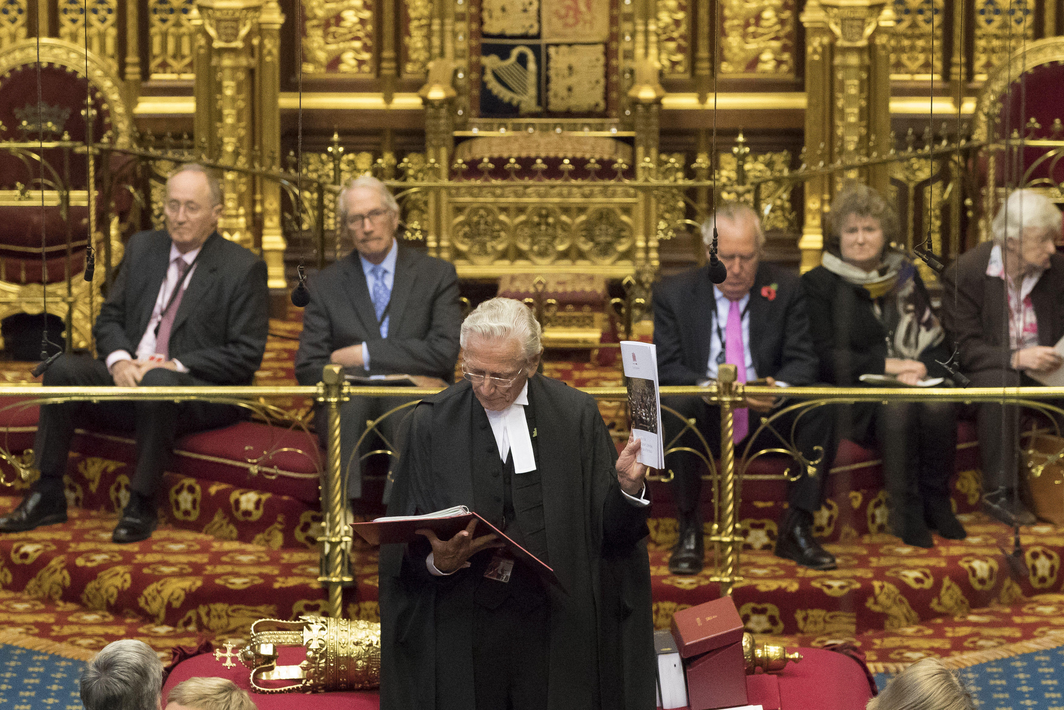 Lord Speaker Lord Fowler in the House of Lords
