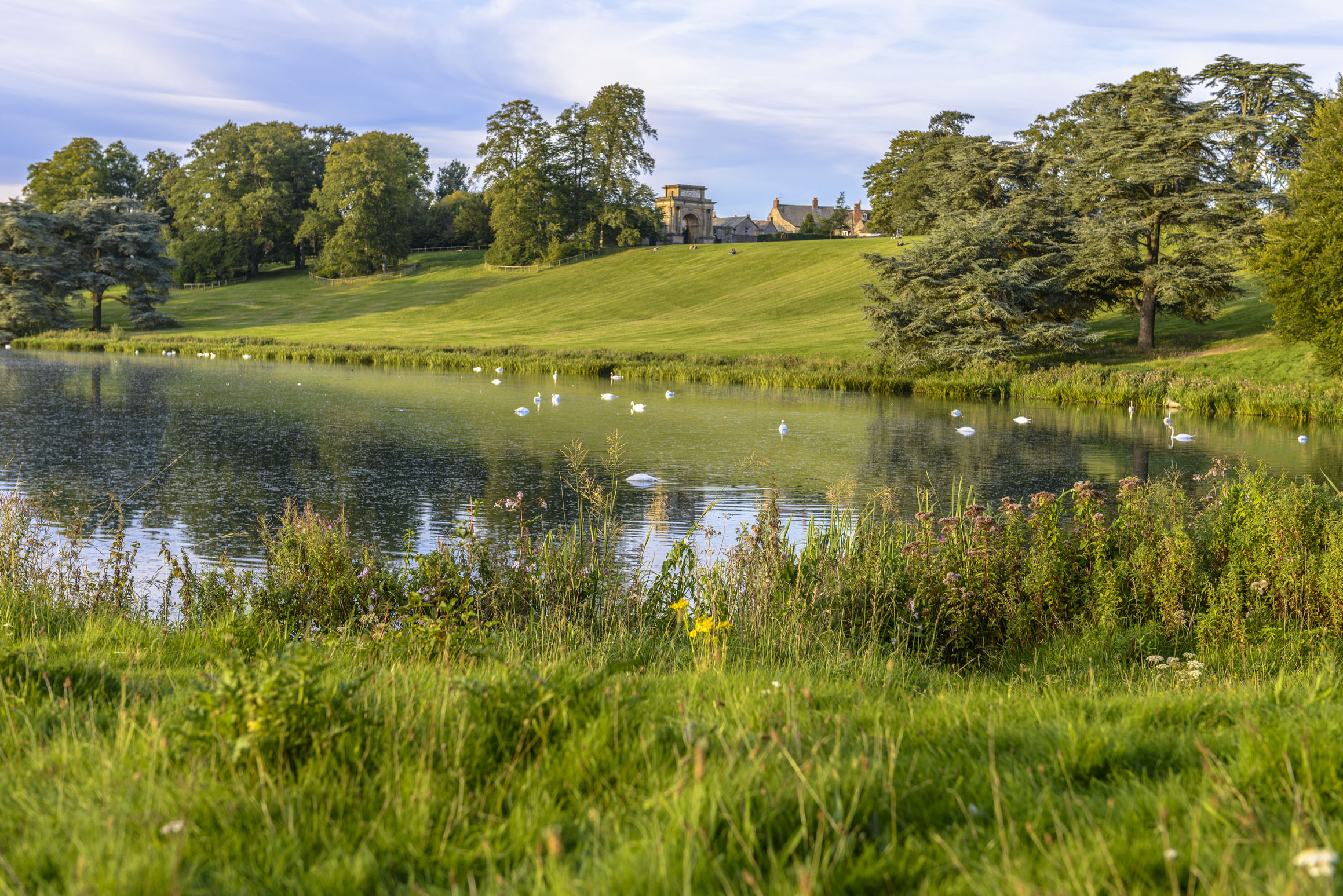 3f8804e79d8 What are your favourite places to cycle? The lake in Blenheim Palace,  Woodstock, Oxfordshire. (BargotiPhotograph/PA)