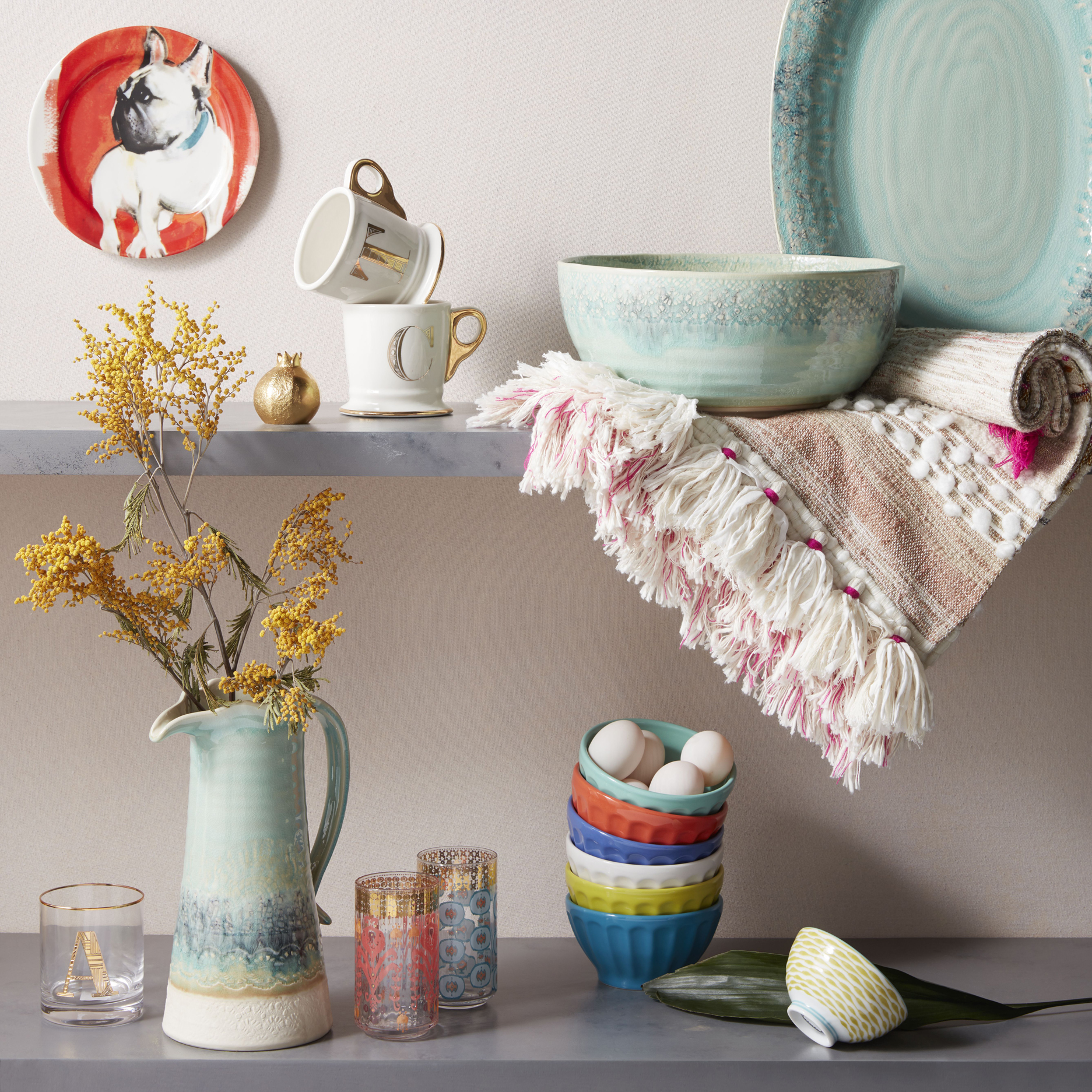 Anthropologie collection of tableware, John Lewis