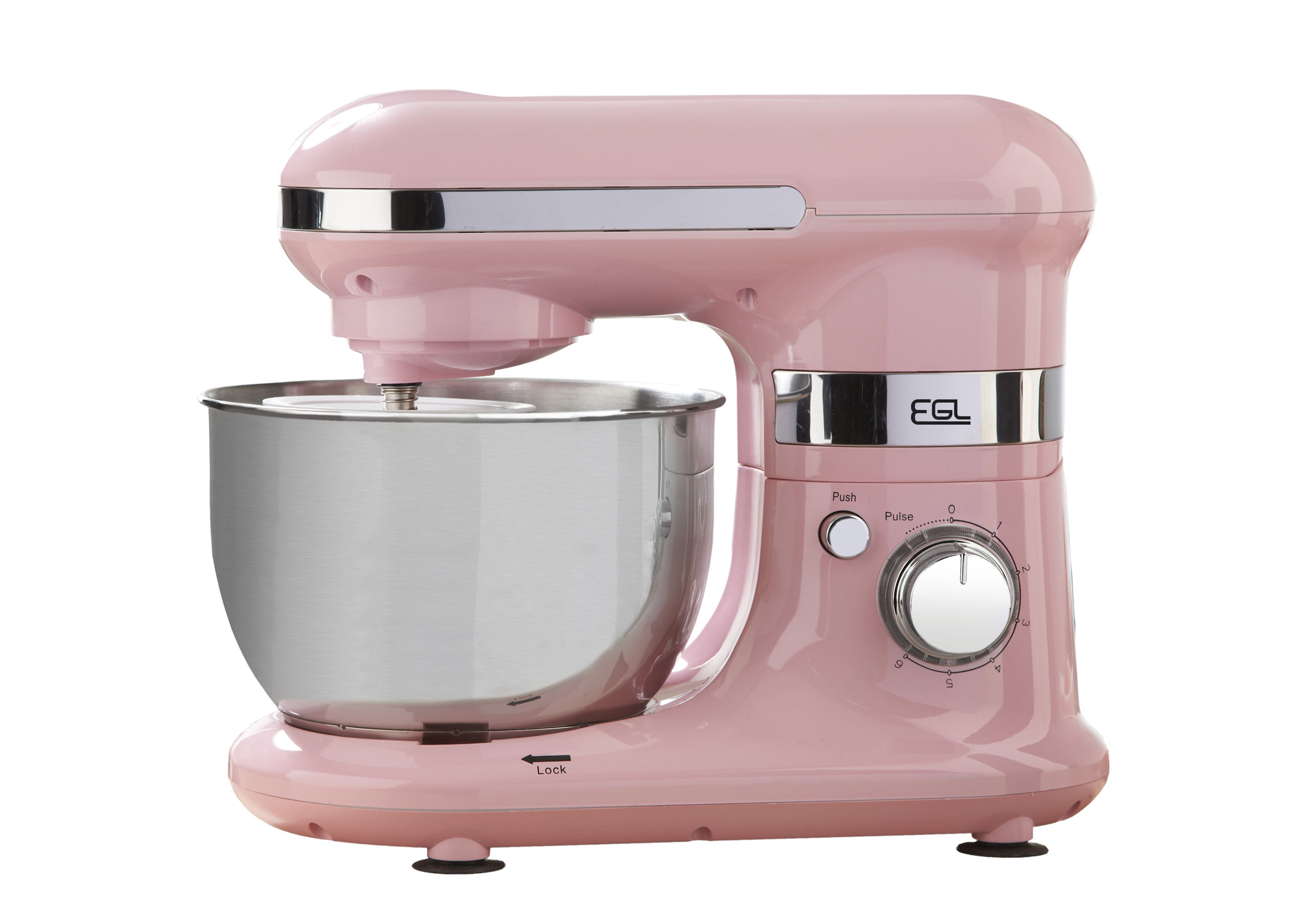 Pink Mixer bowl with attachments, Studio