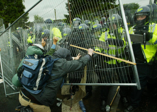 Protestors clashed with police at the G8 summit in Gleneagles in 2005 (David Cheskin/PA)