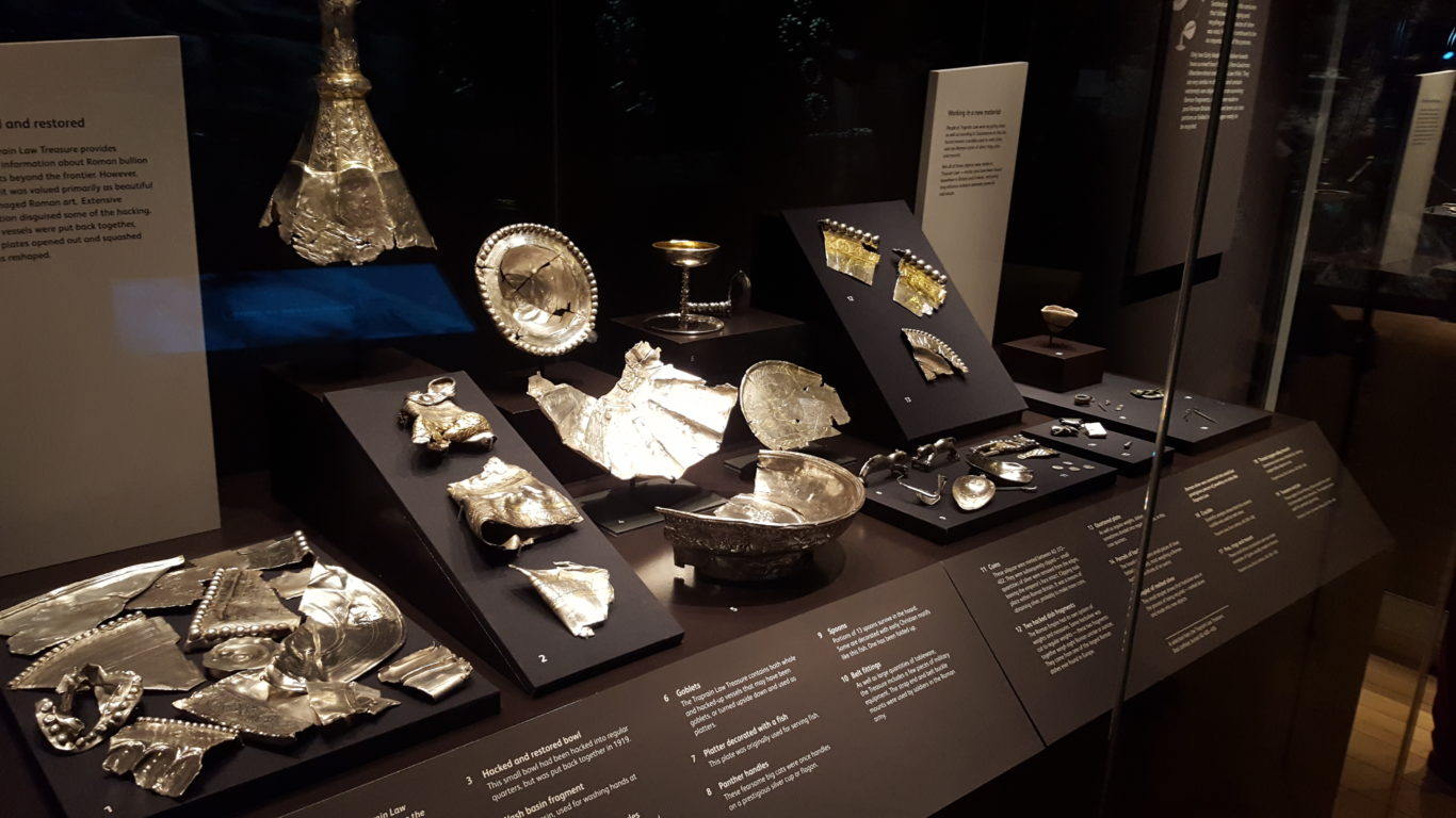 Some of the silver on display (Hilary Duncanson/PA)