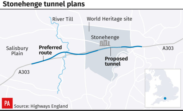 Stonehenge tunnel plans (PA Graphics)