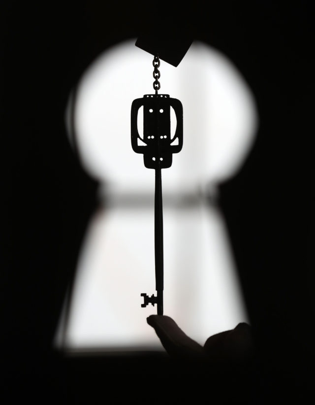 The key, which has not been seen in public since 1899, will be auction in April (Andrew Milligan/PA)